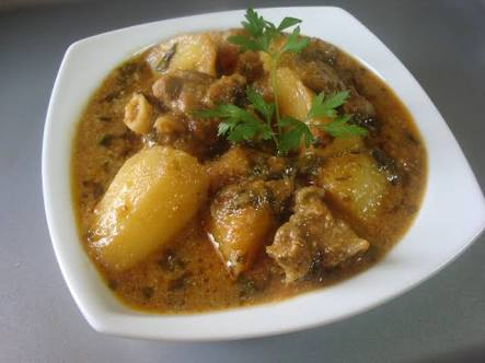 Green Mutton Masala Curry Recipe