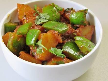 Aalu Shimla Mirch Recipe
