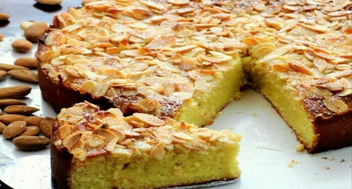 Apple & Almonds Cake Recipe
