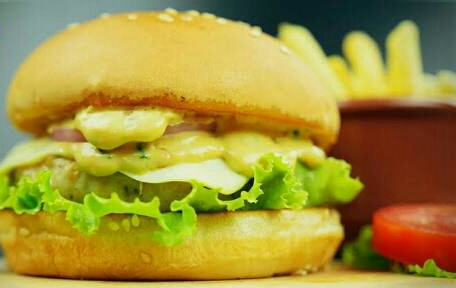Double Melt Chicken Cheese Burger Recipe