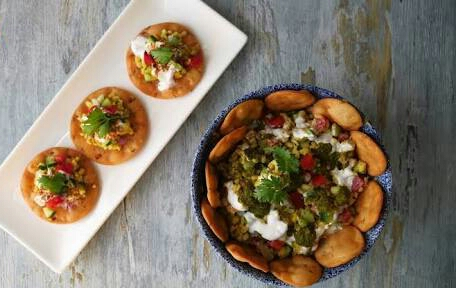 Moong Daal Chaat With Papri Recipe