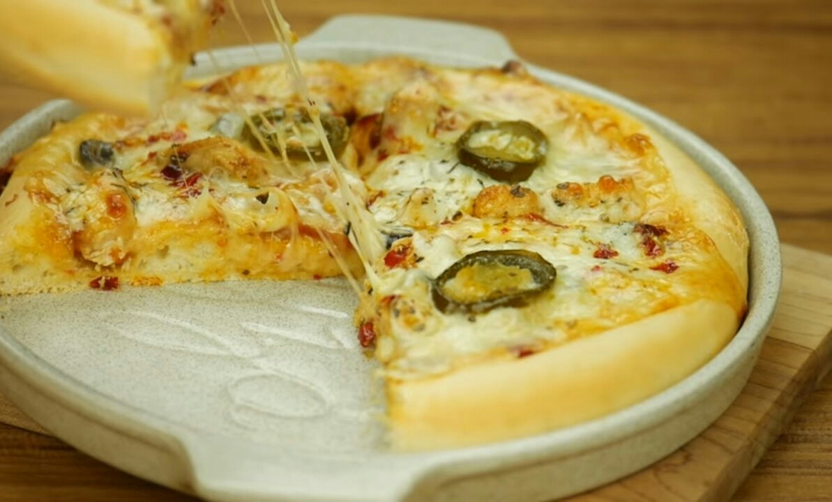 Bbq Chicken Pizza With Pizza Sauce Without Oven Recipe