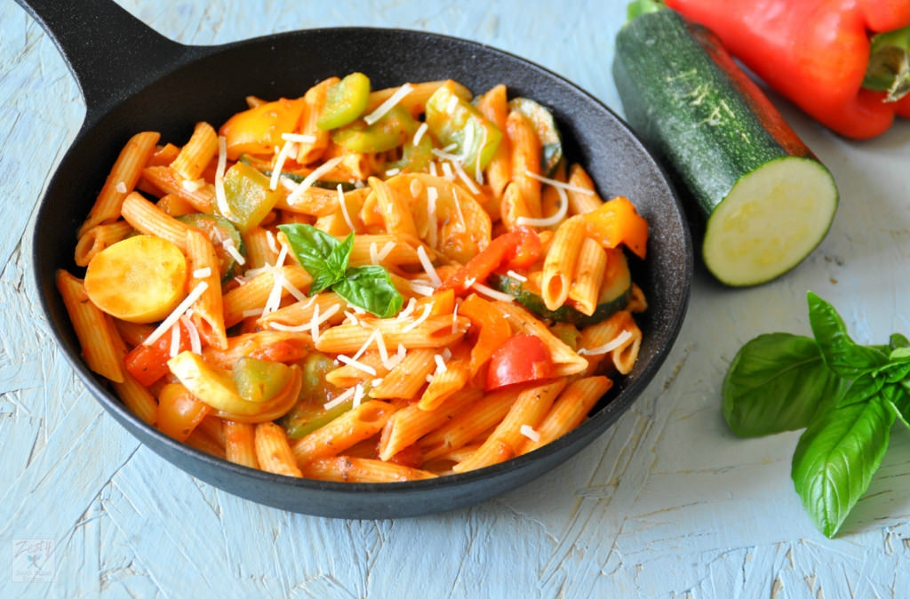 Mixed Vegetable Masala Pasta Recipe