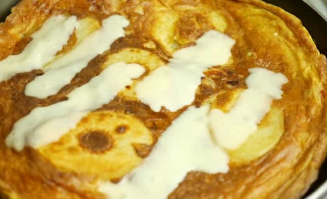 Potato Omelette With Cheese