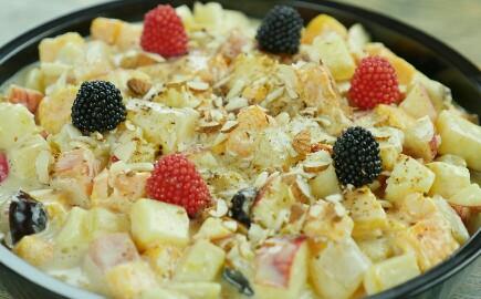 Quick & Easy Cream Fruit Chaat Recipe