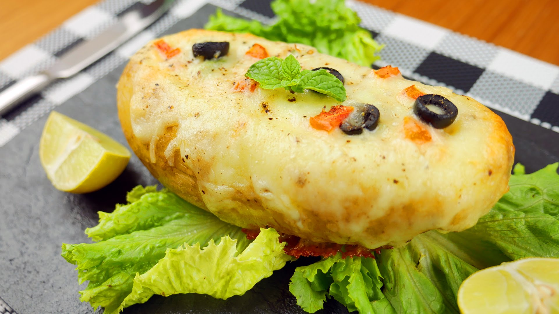 Stuffed Potato With Cheese