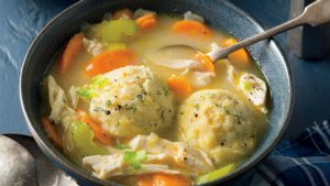 Sweet Corn Chicken Dumpling Soup